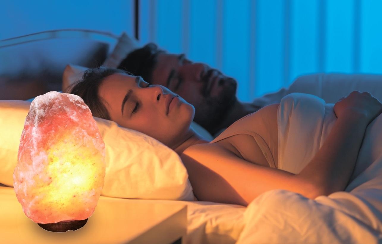 Солевой светильник для сна