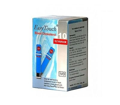 Тест-полоски EasyTouch на холестерин 10шт