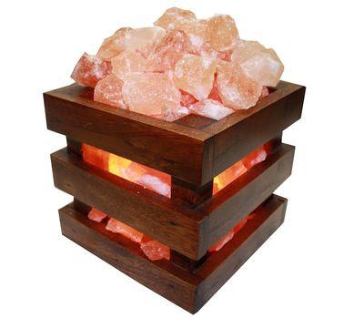 Гималайская солевая лампа Wonder Life Wood 4 кг
