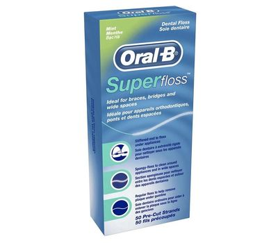 Зубная нить Super Floss Oral B 50 нитей