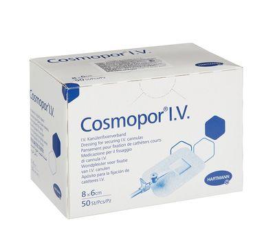 Пластырь для фиксации катетеров и канюль COSMOPOR I.V. 8х6 см