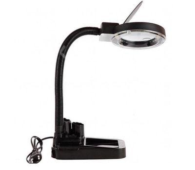 Лупа-лампа бестеневая настольная Kromatech 2x/20x-85мм с подсветкой