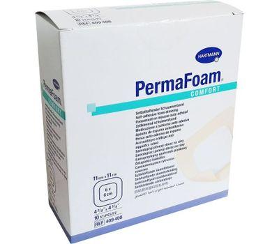 Самоклеящиеся губчатые повязки PERMAFOAM comfort 11x11 см (1 шт)