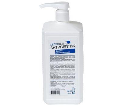 Кожный антисептик Септолит с дозатором, 1 литр